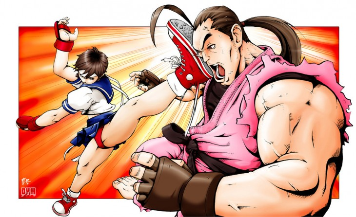 Sakura_vs_dan_haru_ranman_by_dymartgd-d25v90j