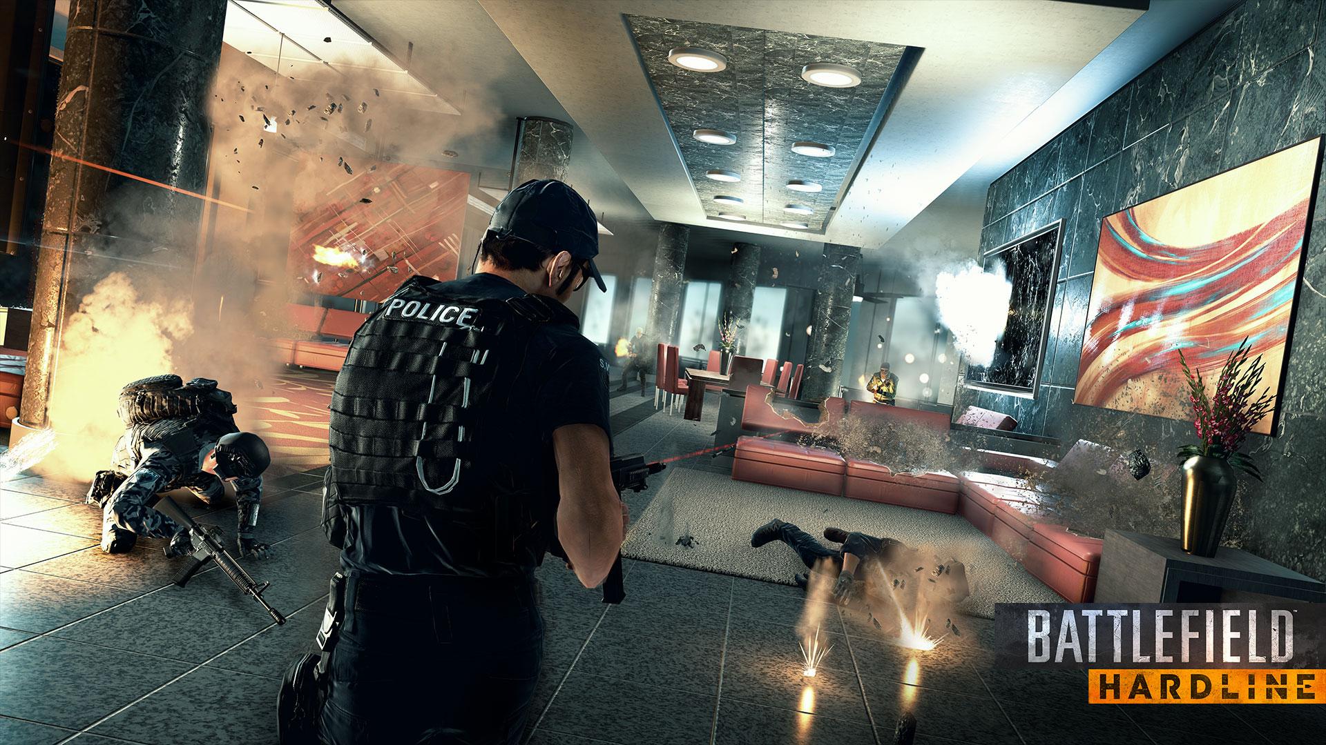 Battlefield Hardline - Police Lounge - Render Screen Full HD - 1920x1080