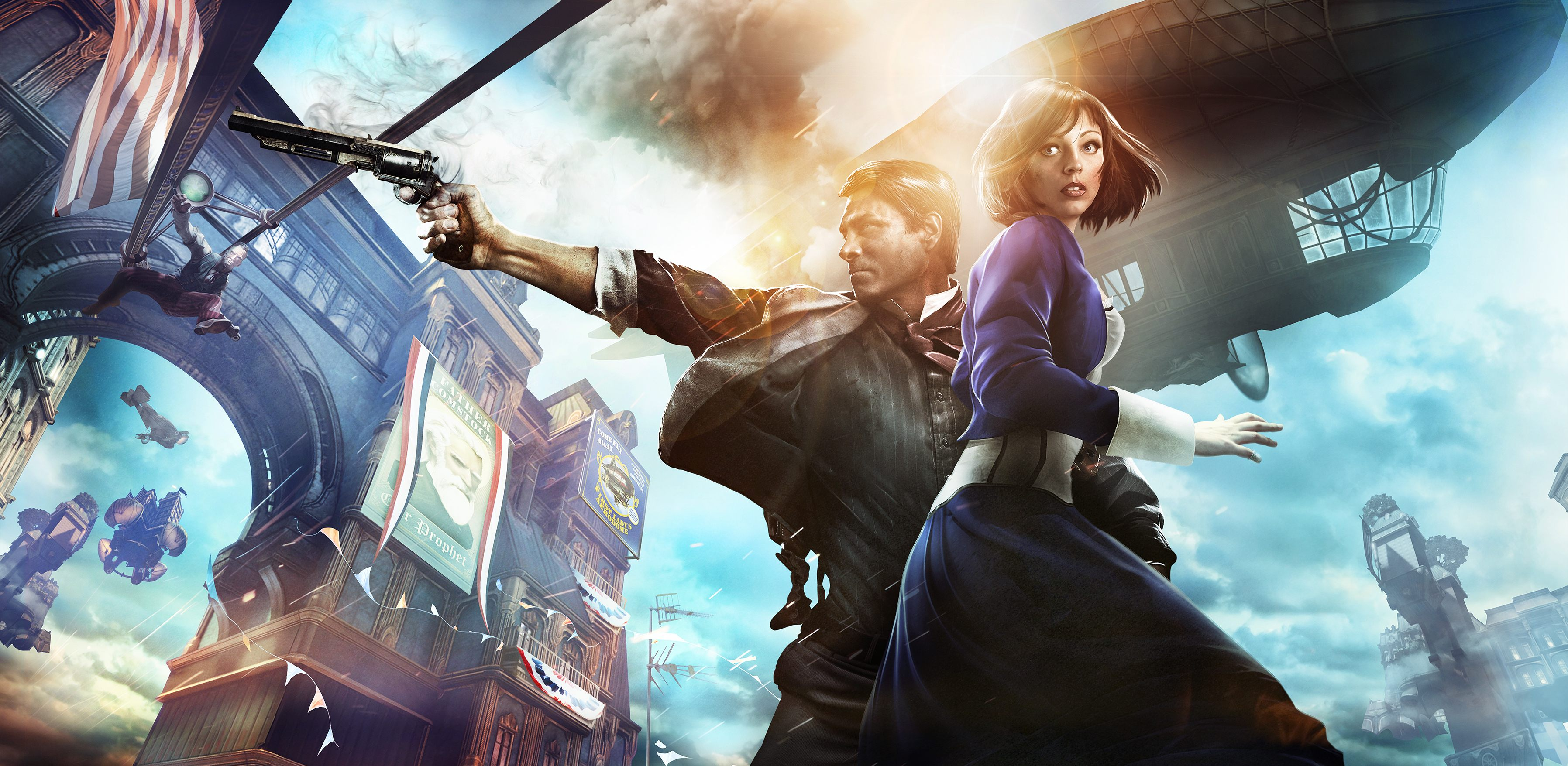 BioShock Infinite - Booker and Elizabeth - Full HD Render Art