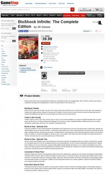 Bioshock Infinite - Complete Edition - Gamestop - PS3 - 02