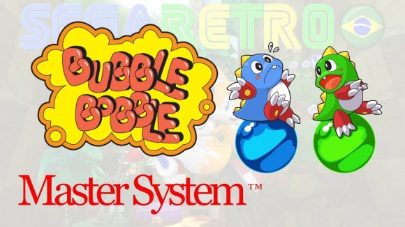 Bubble Bobble - Master System - KeyArt Box - Sega Retro BR