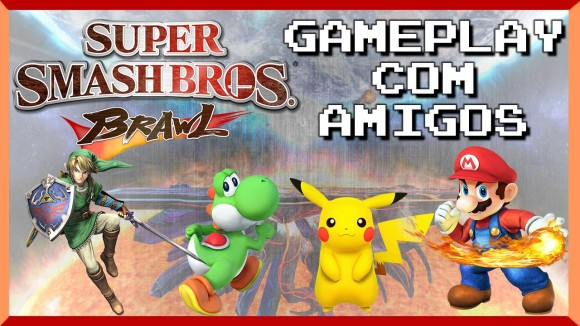 Super Smash Bros Brawl - Gameplay com os Amigos - Banner Topo