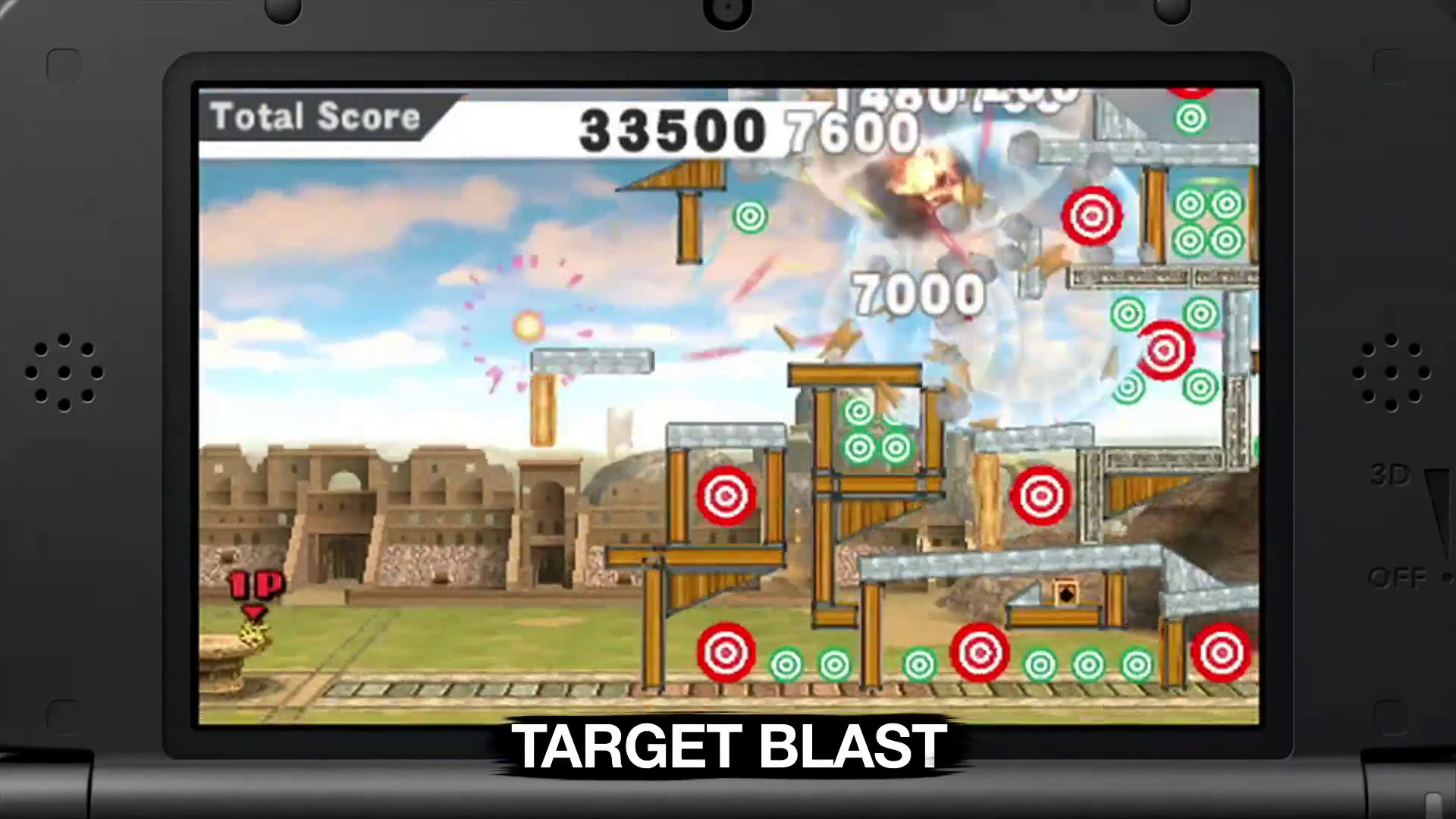 Super Smash Bros - Nintendo 3DS - Target Blast Screen - Angry Birds