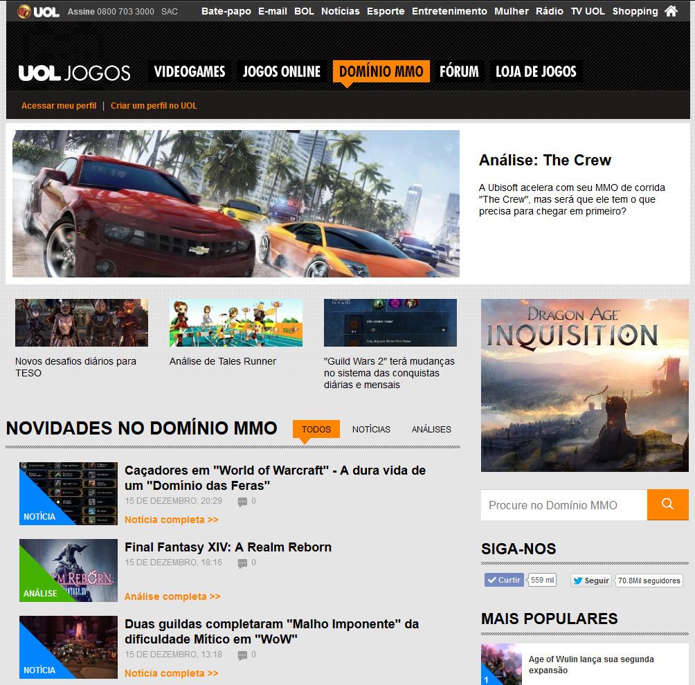 Dominio MMO - Novo Site do UOL - Imagem
