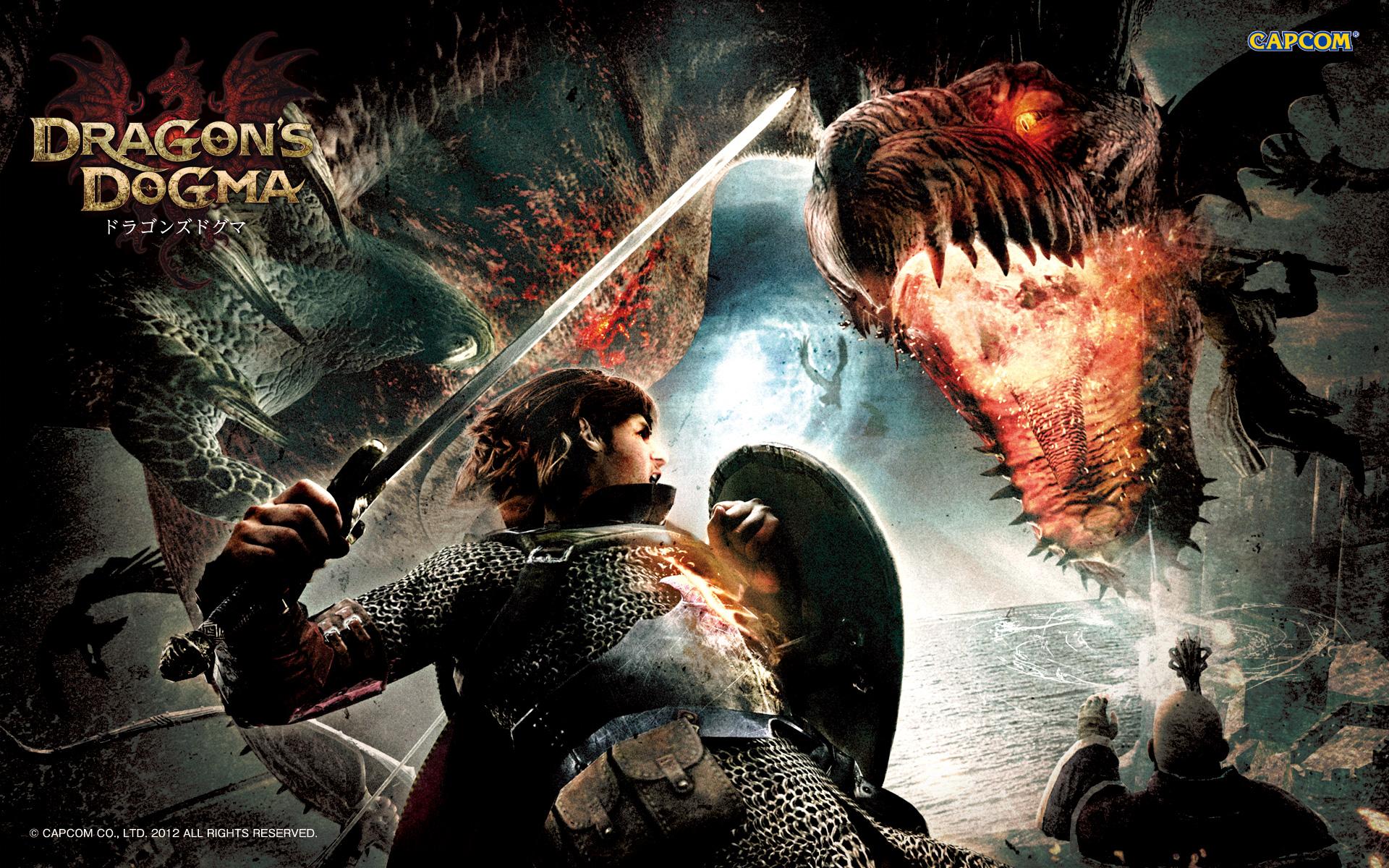 Dragon's Dogma - Wallpaper Full HD - 1920x1200 - Knight vs Dragon