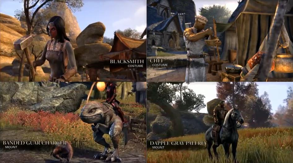 The Elder Scrolls Online - Montarias - Pets - Roupas - 01