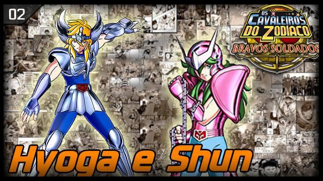 Cavaleiros do Zodíaco - Bravos Soldados - RK Play - Shun e Hyoga - Imagem