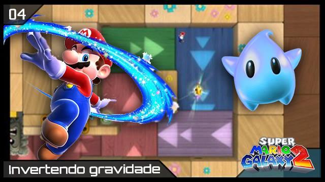 Super Mario Galaxy 2 - RK Play - Invertendo a Gravidade - Imagem