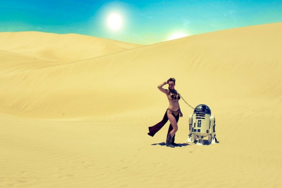 Cosplay - Princesa Leia - Metal Bikini - Lady Jaded - 01