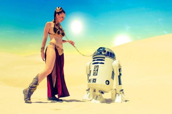 Star Wars Cosplay - Leah Princess - Metal Bikini - Lady Jaded - 02