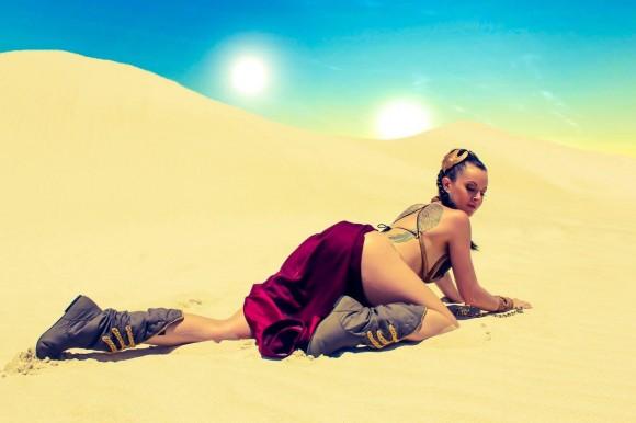 Star Wars Cosplay - Leah Princess - Metal Bikini - Lady Jaded - 04