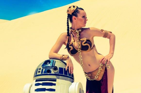 Star Wars Cosplay - Leah Princess - Metal Bikini - Lady Jaded - 05