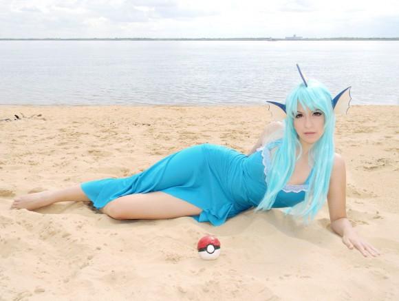 Vaporeon Gijinka Cosplay - Pokémon - by usagiyuu - 01