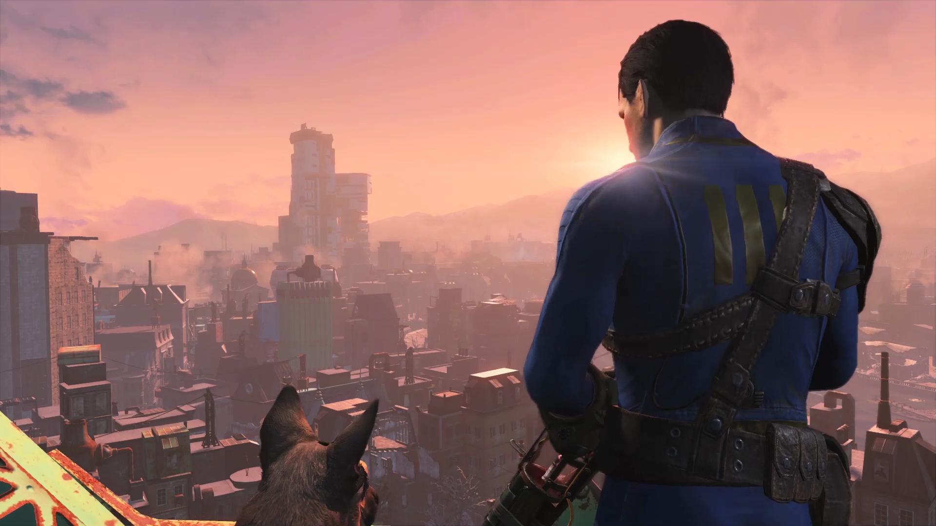 Fallout 4 - Personagem e o Dogmeat