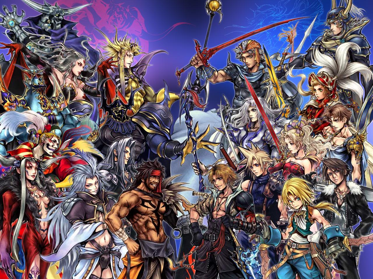 Final Fantasy Dissidia - Personagens Icônicos da Série