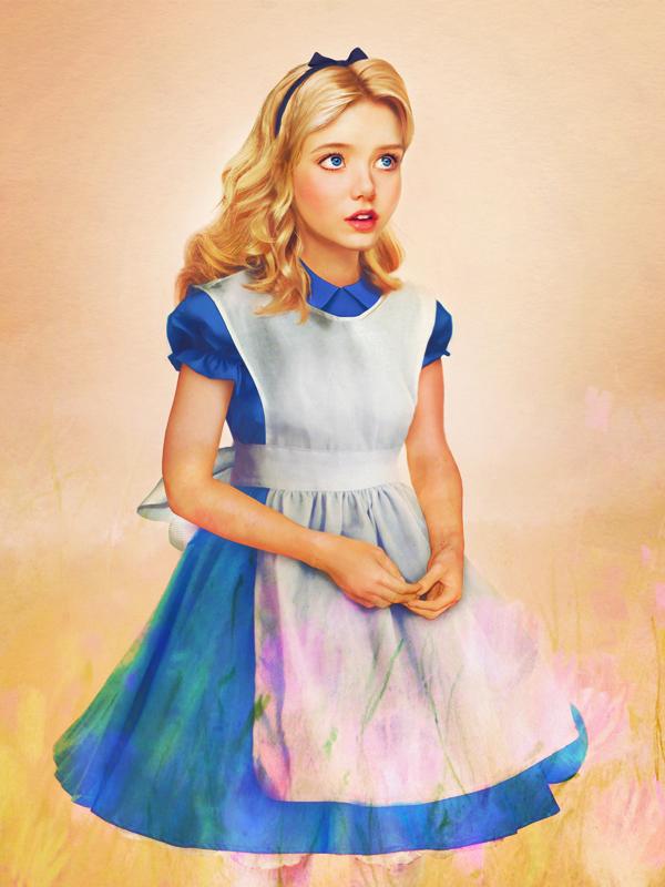 Alice - O País das Maravilhas - Arte Realista - Disney