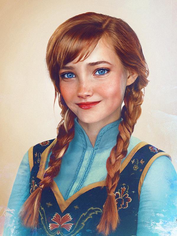 Princesa Anna - Frozen - Arte Realista