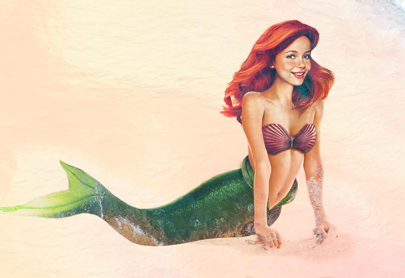Princesa Ariel - A Pequena Sereia - Arte Realista