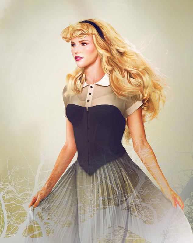 Princesa Aurora - A Bela Adormecida - Arte Realista