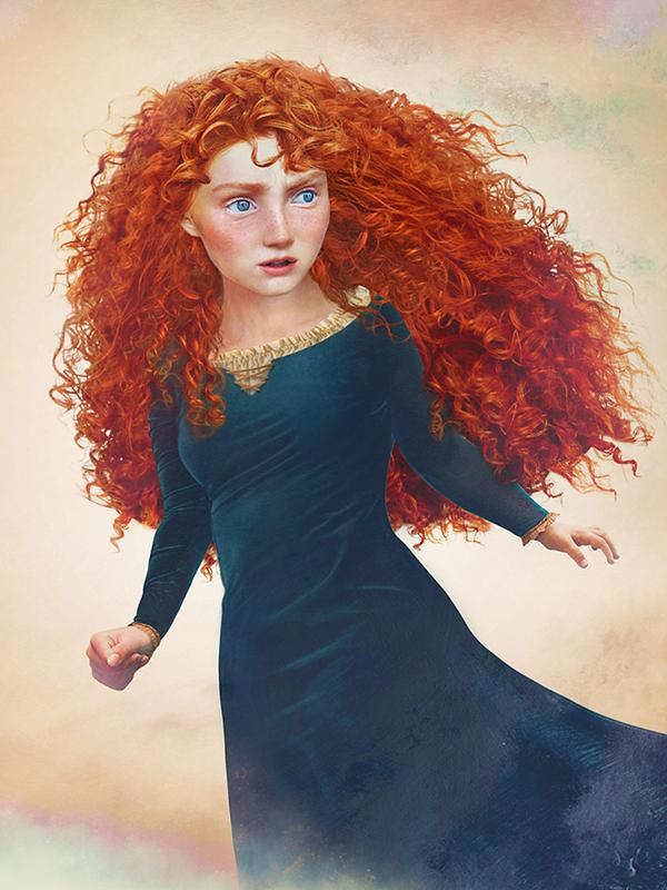 Princesa Merida - Valente - Arte Realista - Disney