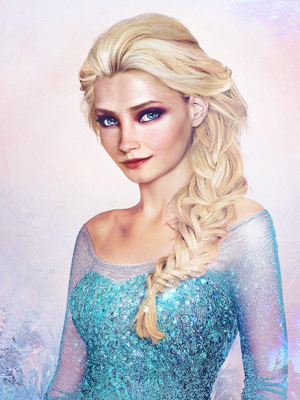 Rainha Elsa - Frozen - Arte Realista