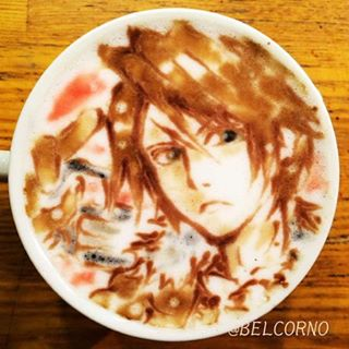 Coffe Art do Squall Leonhart - Final Fantasy VIII