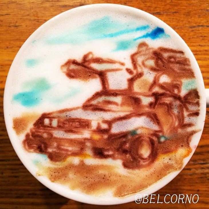 Delorean - De Volta para o Futuro - Coffe Art