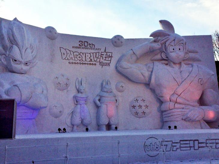 Escultura de Neve de Dragon Ball no Japão - 01