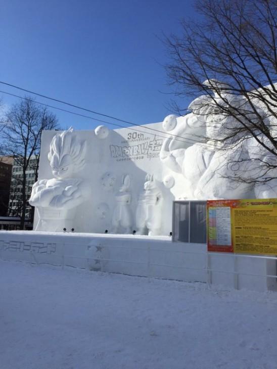 Escultura de Neve de Dragon Ball no Japão - 06