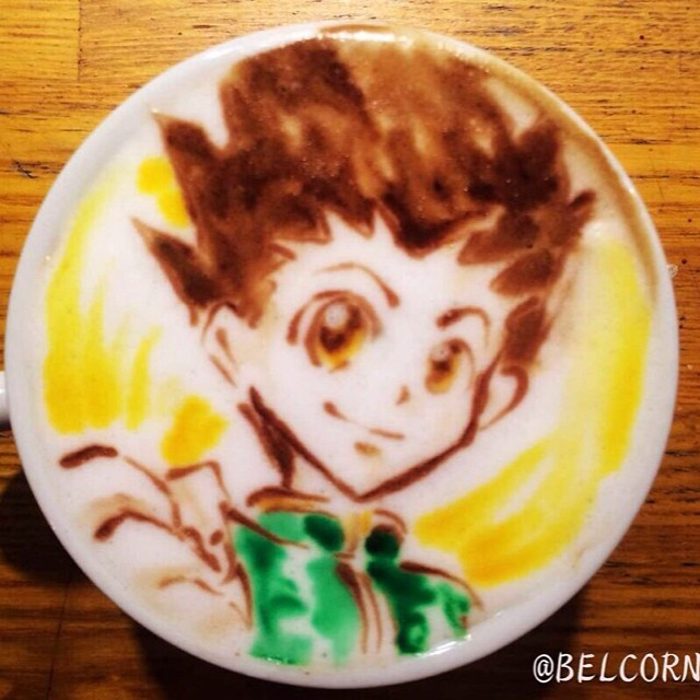 Gon - Hunter x Hunter em Coffe Art
