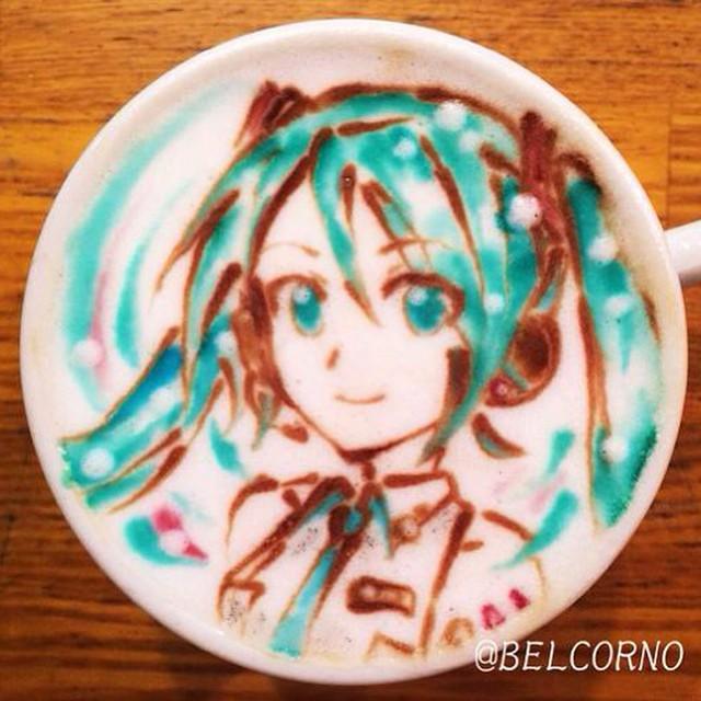 Hatsune Miku em LatteArt