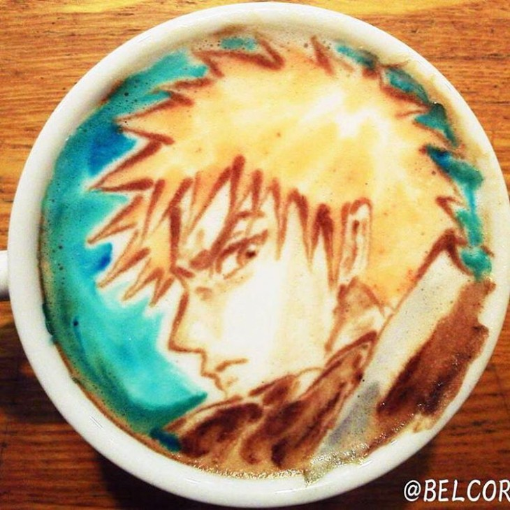 Ichigo Kurosaki - Coffe Art - Bleach