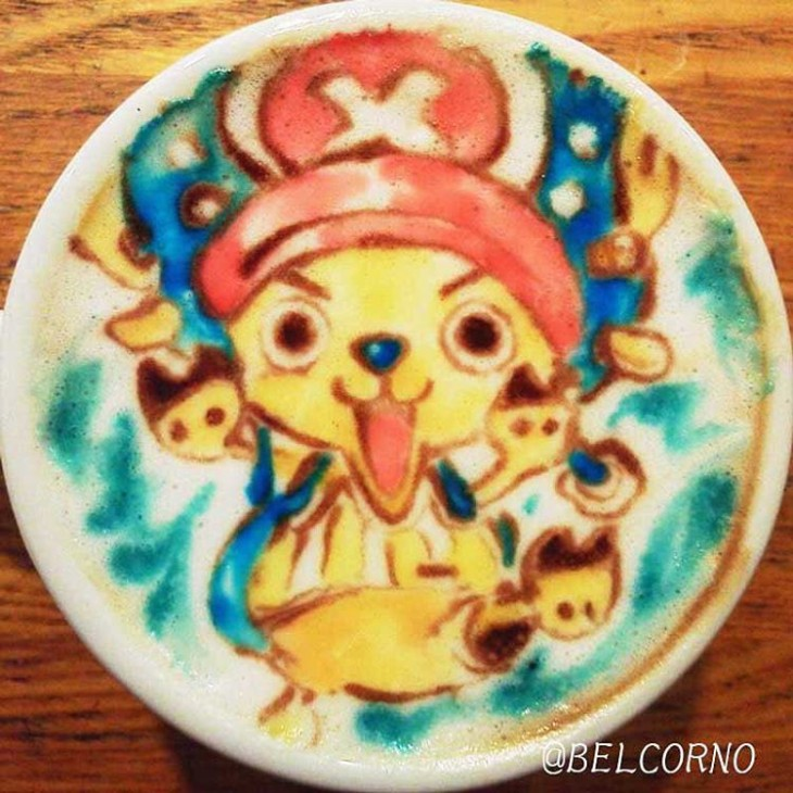 LatteArt de Chopper - One Piece
