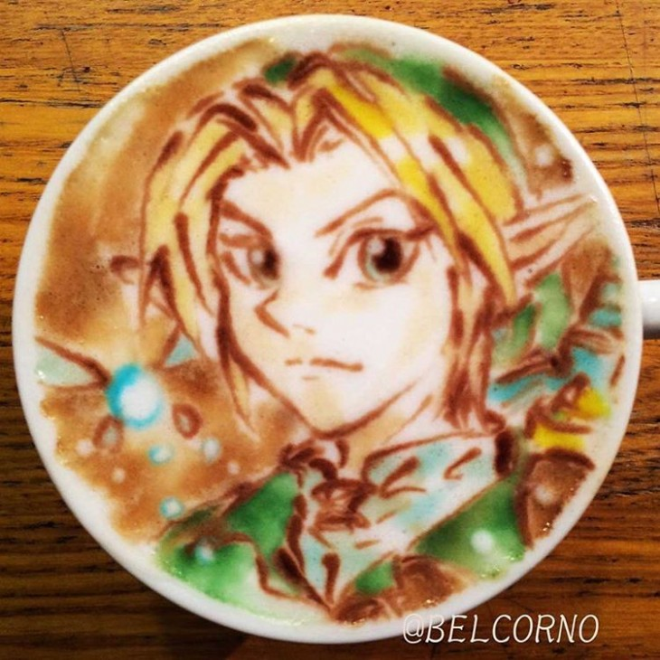 LatteArt do Link - The Legend of Zelda