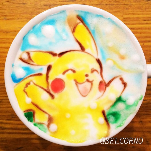 Pokémon - Pikachu em CoffeArt