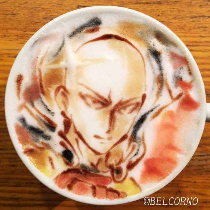 Saitama - One Punch Man - Latte Art