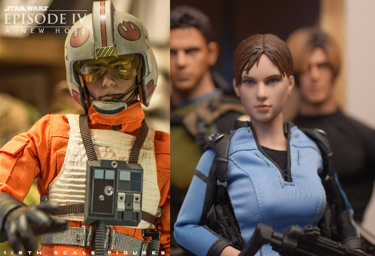 Action Figures - Star Wars e Resident Evil