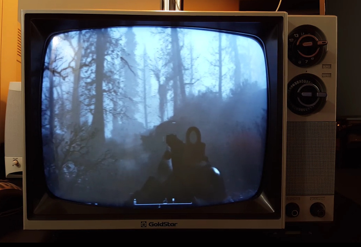 Fallout 4 em uma TV antiga