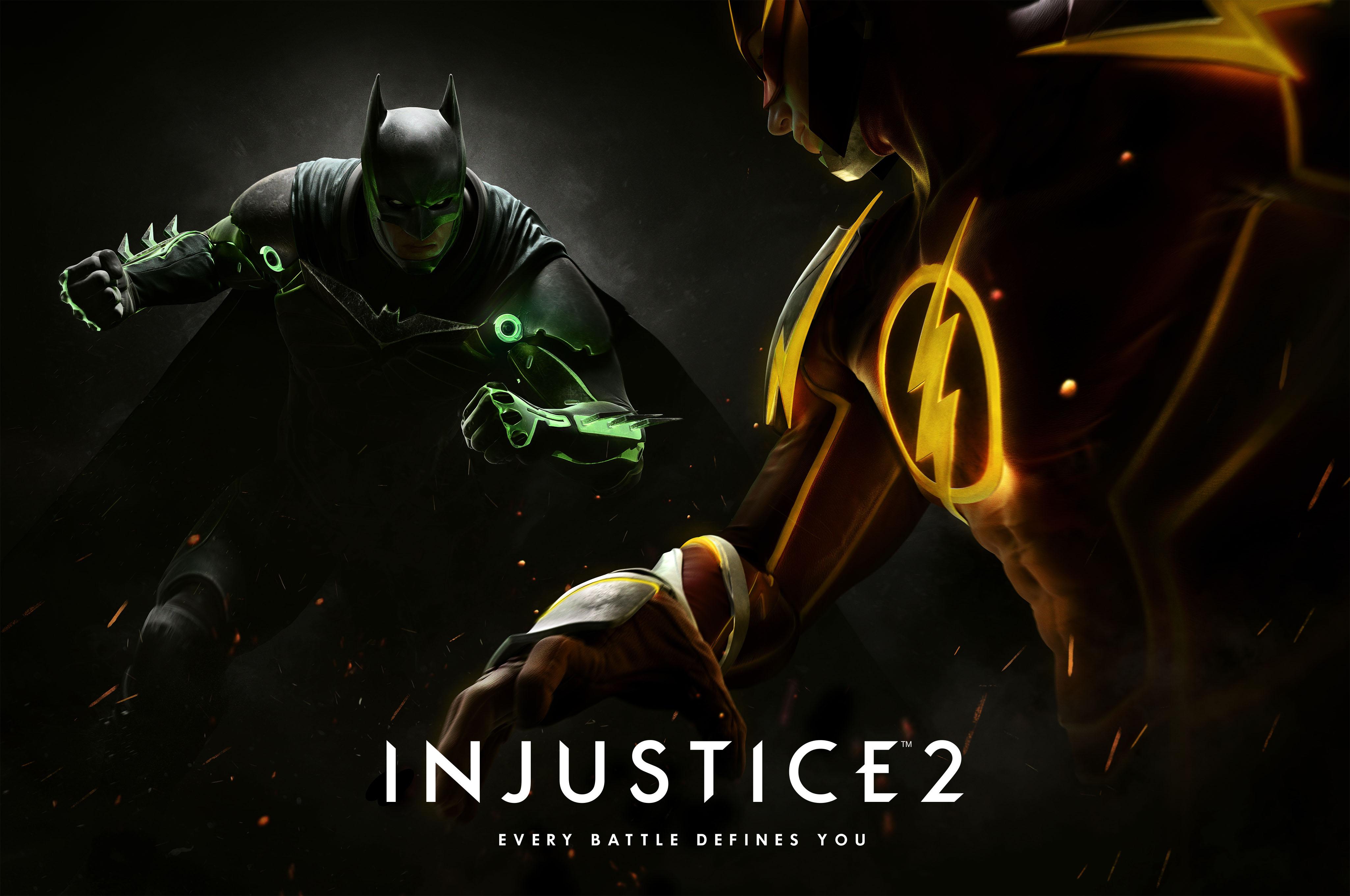 Injustice 2 - Batman vs Flash KeyArt Oficial