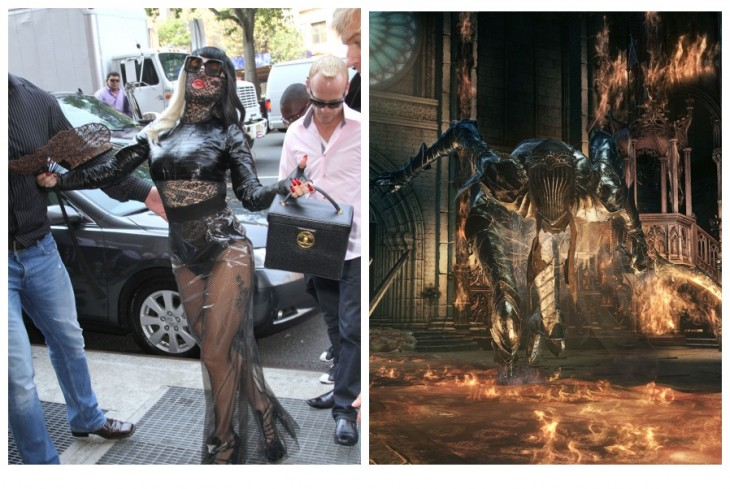 Lady Gaga como cosplay da Dancer - Dark Souls III