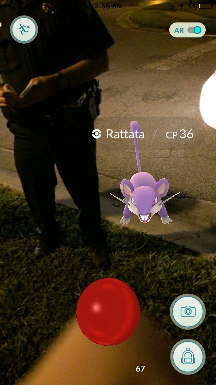 Pokémon Go - Rattata Encontrado!