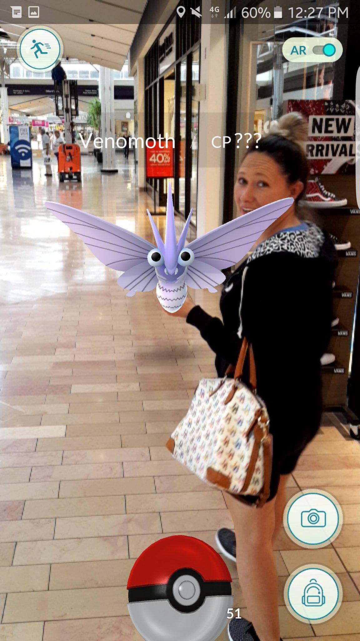 Pokémon Go - Venomoth no Shopping Center