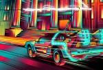 "Artista faz pôsteres de filmes usando arte estilo ""neon"" e perspectiva única"