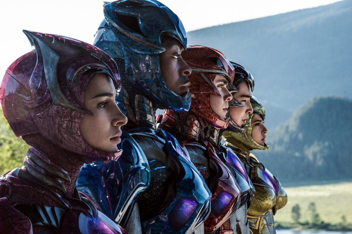 Power Rangers - Foto com os elmos