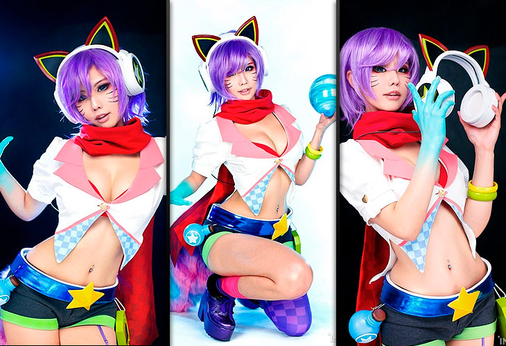 Cosplay da Ahri Fliperama - League of Legends