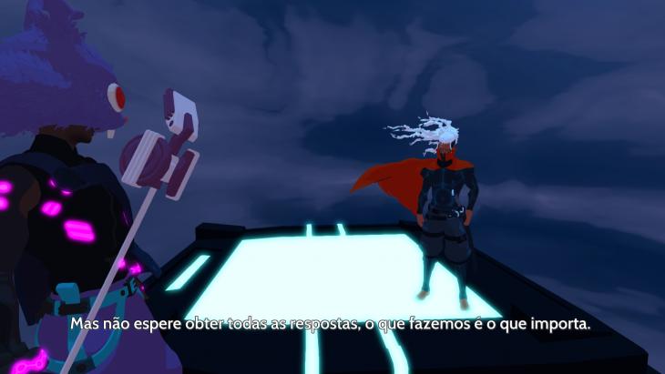 O jogo é legendado em português.