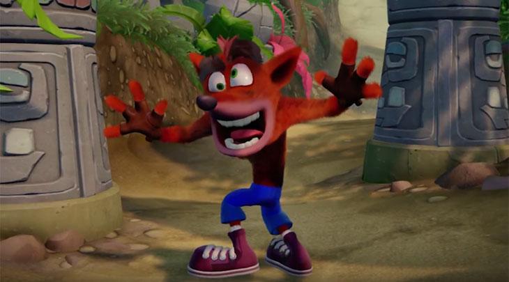 Em vendas físicas Crash Bandicoot foi o jogo mais vendido do mundo em junho