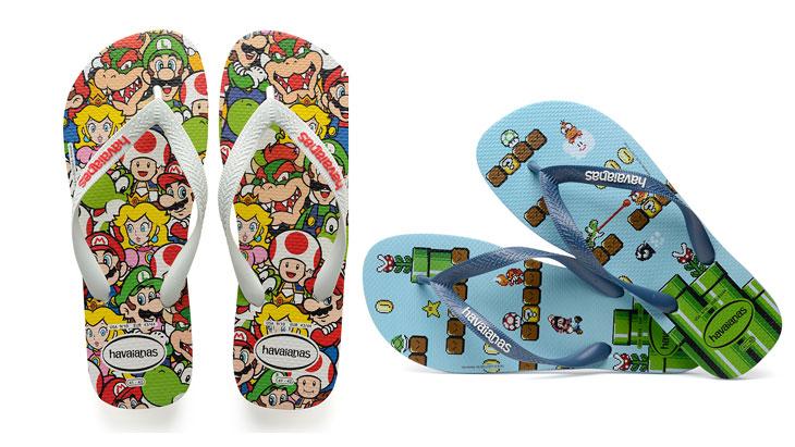 Havaianas lança coleção de sandálias do Super Mario