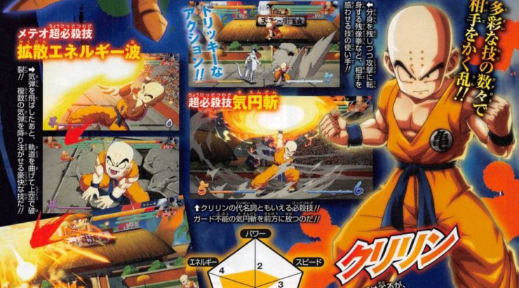 Revista confirma Kuririn e Piccolo como novos personagens jogáveis em Dragon Ball FighterZ