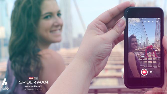 Homem-Aranha - Aplicativo para celular permite tirar foto com o herói